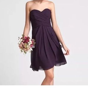 Dresses & Skirts - NWT purple Chiffon sweetheart flowy dress size 6